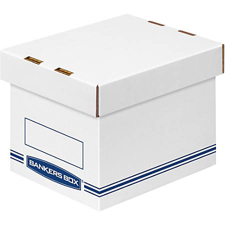 """Fellowes Organizers Small 12/ctn - External Dimensions: 6.3"""" Width x 8.1"""" Depth x 6.5"""" Height - Medium Duty - Single/Double Wall - Stackable - White, Blue - For Storage - Recycled - 12 / Carton"""