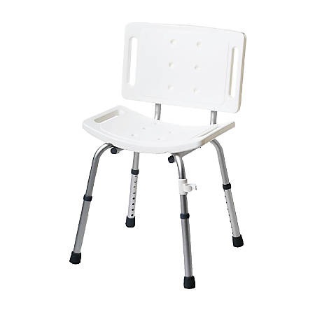 Guardian® Basic Shower Chair With Back, White