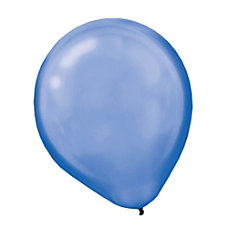 Amscan Pearlized Latex Balloons 12 Royal