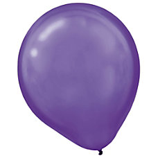 Amscan Pearlized Latex Balloons 12 Purple