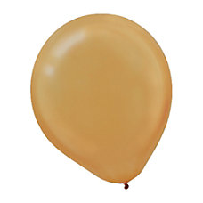 Amscan Pearlized Latex Balloons 12 Gold