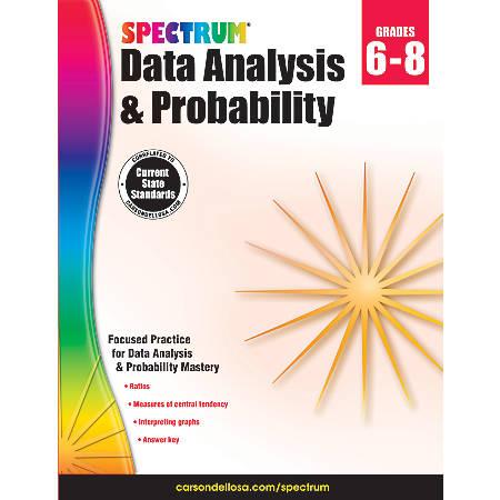 Spectrum® Data Analysis And Probability Workbook, Grades 6-8