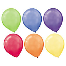 Amscan Pearlized Latex Balloons 12 Assorted