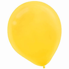 Amscan Latex Balloons Sunshine Yellow 12