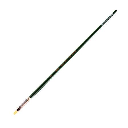 Silver Brush Grand Prix Paint Brush Series 1002, Size 2, Bright Bristle, Hog Hair, Green