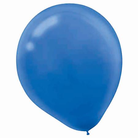 """Amscan Latex Balloons, 12"""", Bright Royal Blue, 15 Balloons Per Pack, Set Of 4 Packs"""