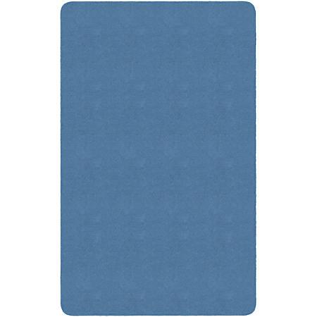 Flagship Carpets Americolors Rug, Rectangle, 4' x 6', Blue Bird
