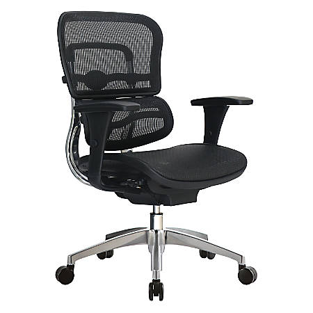 WorkPro® 12000 Mesh Managerial Mid-Back Chair, Black/Chrome