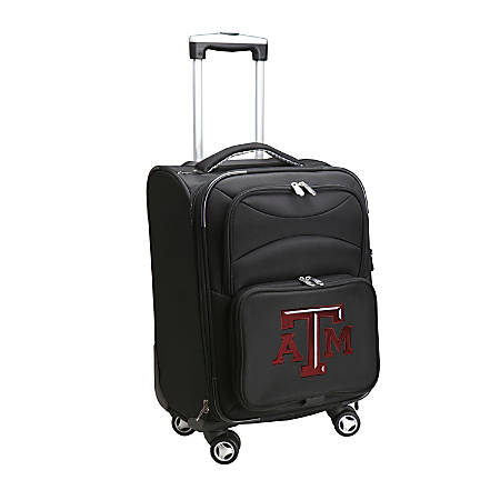 """Denco Sports Luggage Expandable Upright Rolling Carry-On Case, 21"""" x 13 1/4"""" x 12"""", Black, Texas A&M Aggies"""