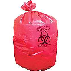 Heritage Red Biohazard Can Liners 23