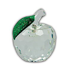 Faceted Crystal Apple Award Clear