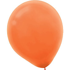 Amscan Glossy Latex Balloons 9 Orange