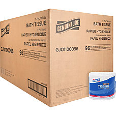 Genuine Joe 1 ply Bath Tissue