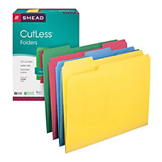 Smead CutLess Color File Folders Letter