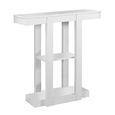 Monarch Specialties Console Table, 3 Tier, White