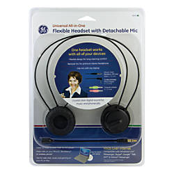Ge Universal All In One Headset With Detachable Mic By
