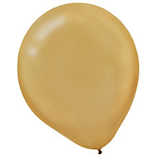 Amscan Pearlized Latex Balloons 9 Gold