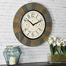 FirsTime Slate Garden Wall Clock 15