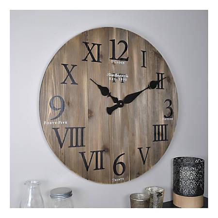 FirsTime & Co.® Wood Wall Clock, Rustic Barnwood