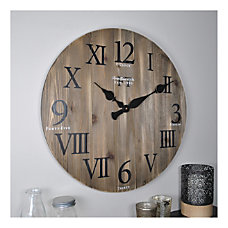 FirsTime Co Wood Wall Clock Rustic
