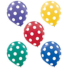 Amscan Dots Latex Balloons 12 Assorted