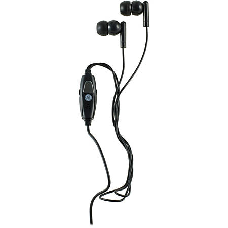 GE VoIP In-Ear Headset With Inline Microphone & Two Adapters