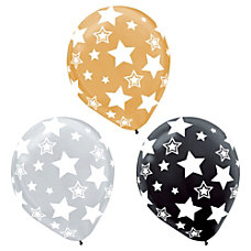 Amscan Latex Star Balloons 12 Assorted