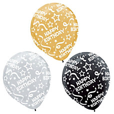 Amscan Latex Confetti Balloons 12 Assorted