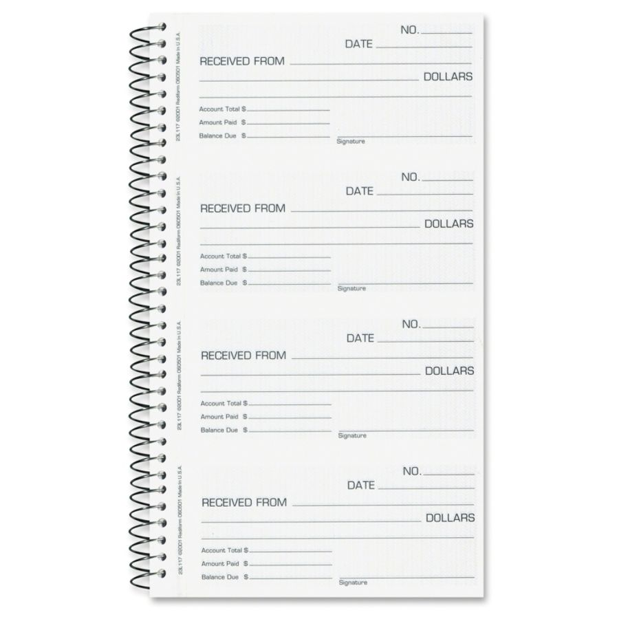 picture about Printable Receipt Book identified as Rediform Economic Hire Receipt E-book - 500 Sheet(s) - Spiral Certain - 2 Aspect - Carbonless Replica - 2.75\