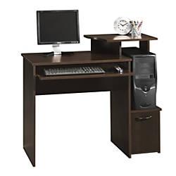Sauder Beginnings Computer Desk Cinnamon Cherry