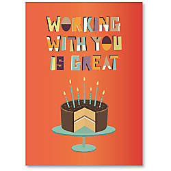 Viabella Coworker Birthday Card With Envelope