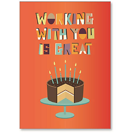 viabella coworker birthday card with envelope - Coworker Birthday Card