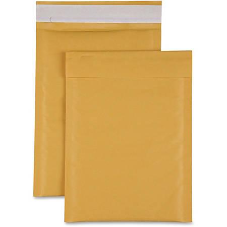 "Sparco Size 1 Bubble Cushioned Mailers - Bubble - #1 - 7 1/2"" Width x 12"" Length - Self-sealing - Kraft - 100 / Carton - Kraft"