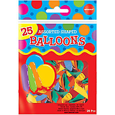 Amscan Latex Shapes Balloons 18 Assorted