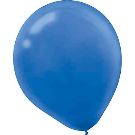 """Amscan Glossy 5"""" Latex Balloons, Bright Royal Blue, 50 Balloons Per Pack, Set Of 3 Packs"""