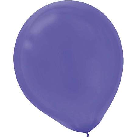 "Amscan Glossy 5"" Latex Balloons, New Purple, 50 Balloons Per Pack, Set Of 3 Packs"