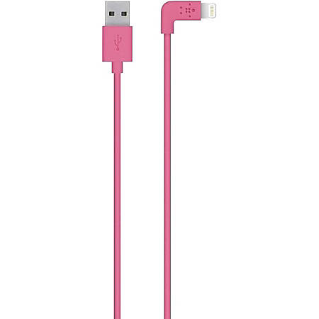 Belkin MIXIT↑ Sync/Charge Lightning Data Transfer Cable - 3.94 ft Lightning Data Transfer Cable - Lightning Proprietary Connector - Pink