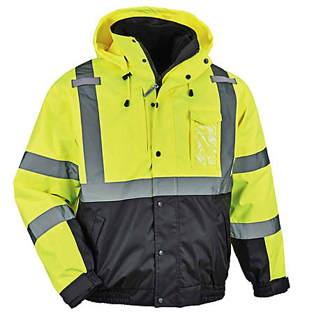 Ergodyne GloWear 8381 Type-R Class 3 Performance 3-In-1 Bomber Jacket, 5X, Lime