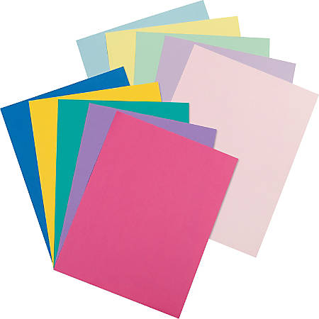 Pacon® Printable Multipurpose Card Stock, Letter Size, 65 Lb, Assorted Pastel And Bright Colors, Pack Of 250 Sheets