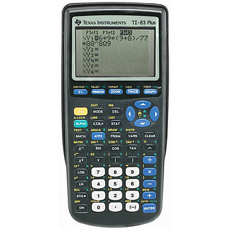 Texas Instruments Ti 83 Plus Graphing Calculator By Office Depot