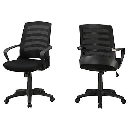 Monarch Specialties Mid-Back Office Chair, Black