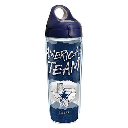 Tervis NFL Statement Water Bottle With Lid, 24 Oz, Dallas Cowboys