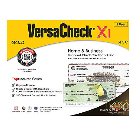 VersaCheck® TopSecure™ X1 Gold 2019, Traditional Disc