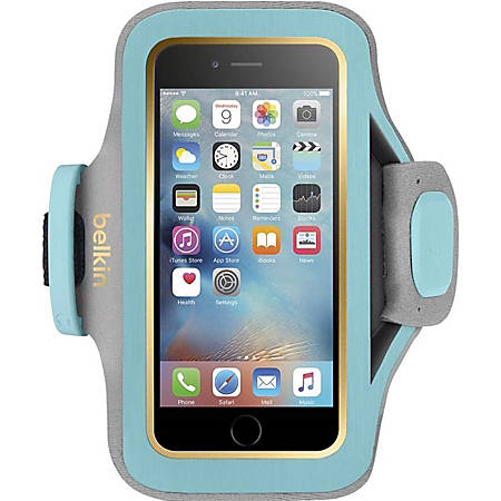 Belkin Slim-Fit Plus Carrying Case (Armband) Apple iPhone 6, iPhone 6s Smartphone - Swim - Neoprene, Fabric - Armband