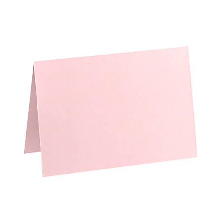 "LUX Folded Cards, A1, 3 1/2"" x 4 7/8"", Candy Pink, Pack Of 50"