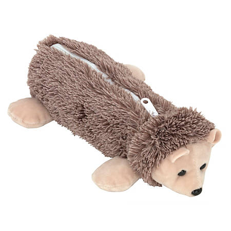 "Office Depot® Brand Plush Animal Pencil Pouch, 2"" x 2"", Hedgehog"