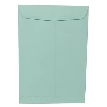 "JAM Paper® Open-End Catalog Envelopes With Gummed Closure, 9"" x 12"", Aqua Blue, Pack Of 25 Envelopes"
