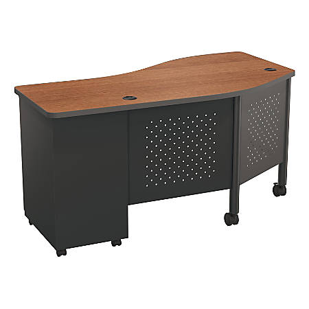Balt Instructor Teacher's Desk II Desk, Cherry/Black