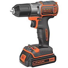 Black Decker 20V MAX Lithium DrillDriver