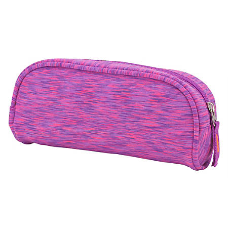 """Office Depot® Brand Space Dye Fabric Pencil Pouch, 4-1/4"""" x 2"""", Pink"""